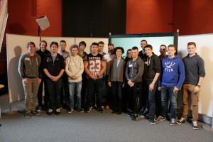 Gruppenfoto der am Workshop teilnehmenden Lehrlinge