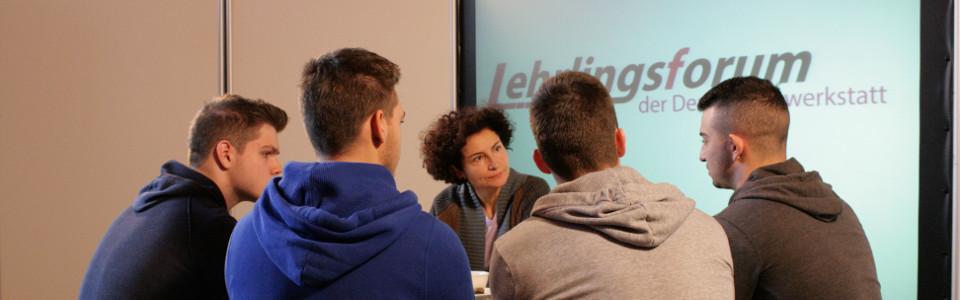 Lehrlinge im Gespräch mit NR-Abgeordneter Alev Korun