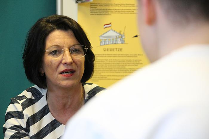 Parlamentarierin beim Lehrlingsforum